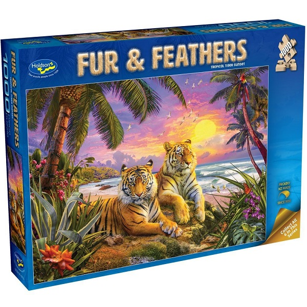 Fur & Feathers: Tropical Tiger Sunset