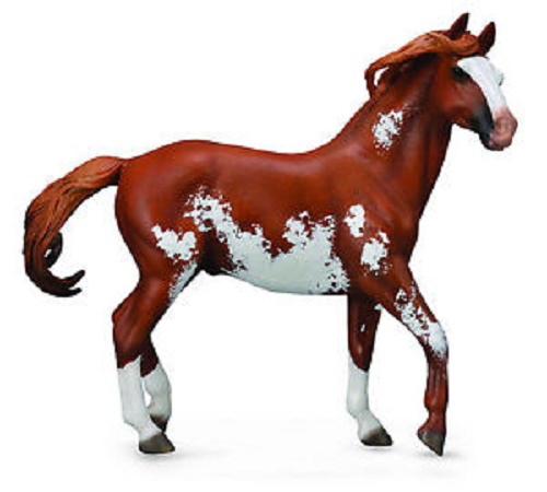 1:12 Scale Morgan Stallion Chestnut Overo