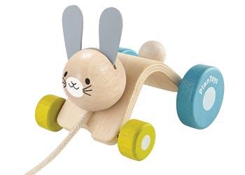 Plan Toys Pull Along Toy - Hopping Rabbit