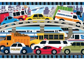 Floor Puzzle - Traffic Jam