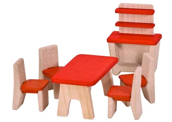 Plan Toys Dollhouse Furniture - Dining Room