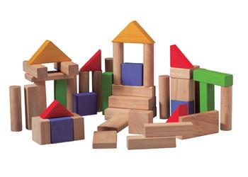Plan Toys 50 Wooden Blocks Set