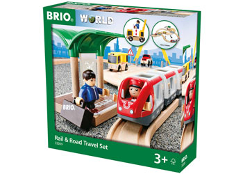 Rail & Road Travel Set 33 Pieces