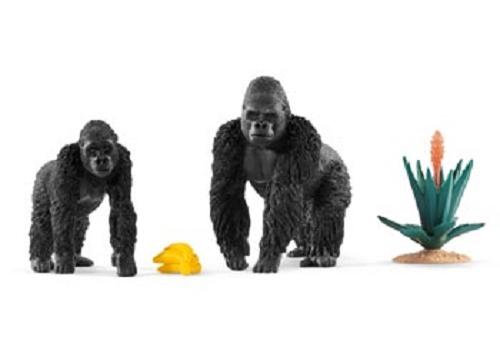 Gorillas Foraging