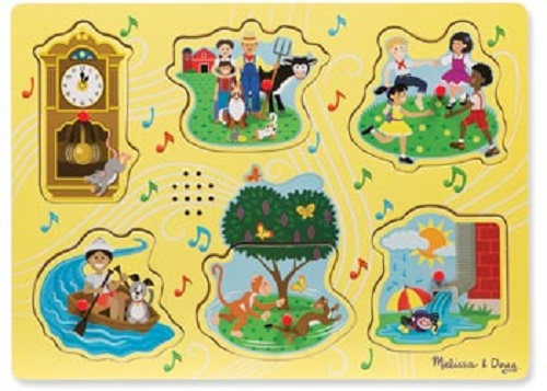 Wooden Sound Puzzle - Nursery Rhymes A