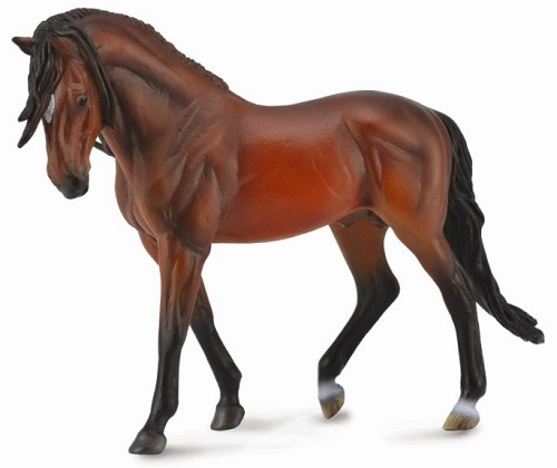 1:12 Scale Andalusian Stallion Bright Bay