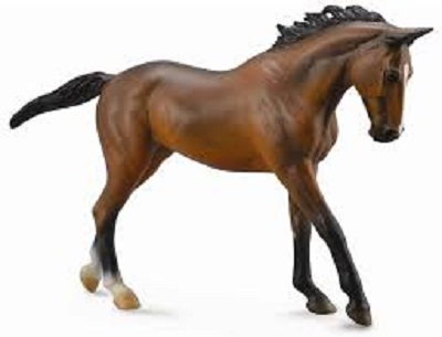 1:12 Scale Thoroughbred Mare Bay