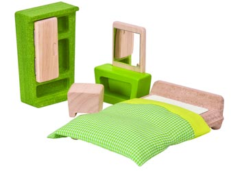 Plan Toys Dollhouse Furniture - Parent's Bedroom