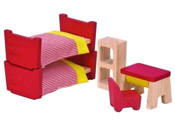 Plan toys Dollhouse Furniture - Kid's Room