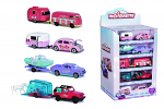 Pink Drivez Lilac Pickup Truck With Boat Trailer
