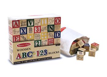 ABC-123 Wooden Blocks - Set Of 50